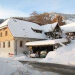 Gästehaus Birkenhof am Belchen im tiefen Winter mit Sonne