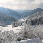 Winterlandschaft zu Füßen des Gästehaus Birkenhof