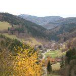 Blick nach Süden im Herbst vom Gästehaus Birkenhof