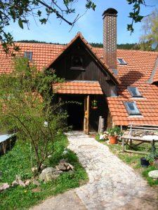 Hauseingang Gästehaus Birkenhof am Belchen